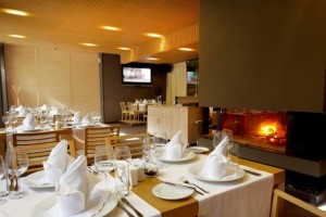 """Fireplace at """"Le Bistro"""" Restaurant"""