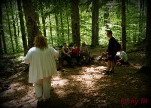Участниците в гората