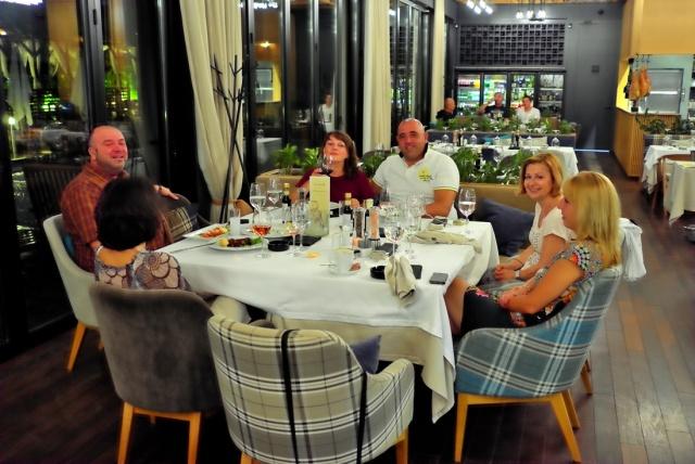 Dinner at Leonardo restaurant | weight loss center LuckyFit