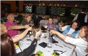 "Dinner of the participants at ""Leonardo"" restaurant"