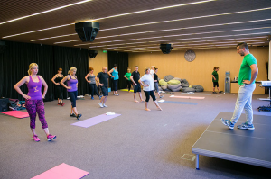 Combined gymnastics exercises