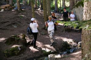 Crossing a mountain creek