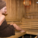 Sauna at apart hotel Lucky Bansko | Lucky Fit