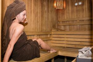 Sauna at apart hotel Lucky Bansko