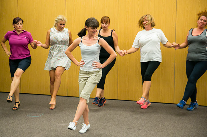 Weight loss with dancing and smiles