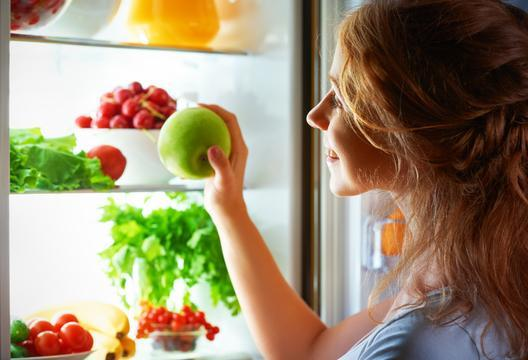Healthy food in the refrigerator   LuckyFit