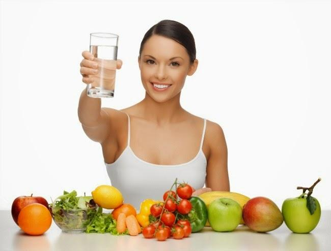 Eat healthy, Drink water   LuckyFit