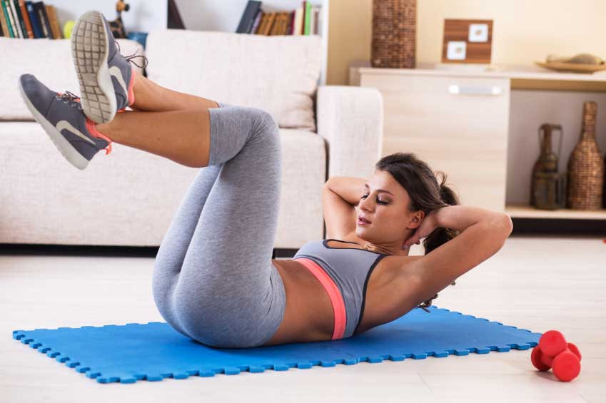 Home exercises for flat belly   LuckyFit