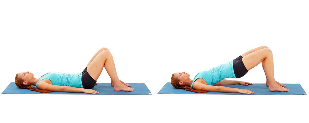 Exercises for tight bottom - bridging   LuckyFit