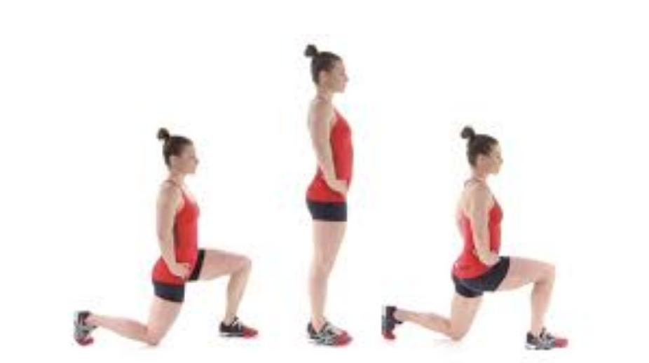 Forward lunge at home   LuckyFit