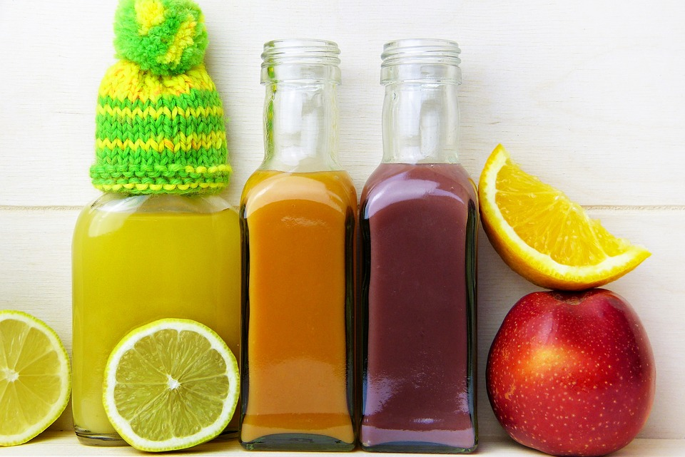 Healthy Lemon Orange Juice Apple Cap Vitamins